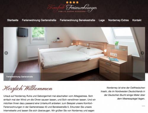 Web Design für Komfort Ferienwohnungen – Haus Ahrens Norderney